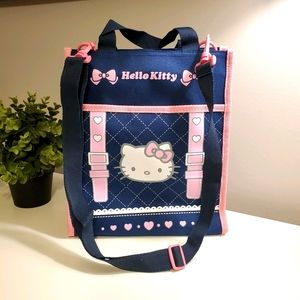 Hello Kitty tote bag, navy and pink